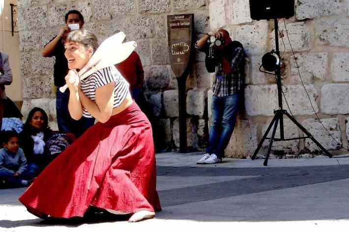 Dulce Duca durante su espectáculo 'Um belo día'. Foto: Laura Fraile.