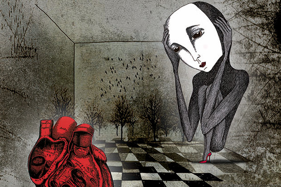'Geek Love', ilustración de la serie 'Mr. Pain's ghosts'. ©Fotografía: José Linares.