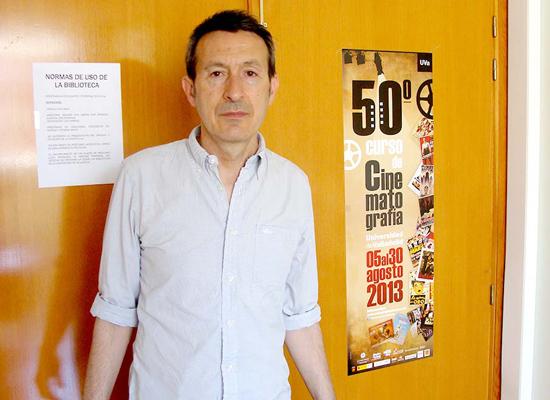 Javier Castán, director del Curso de Cinematografía de la Universidad de Valladolid. Foto: L. Fraile.