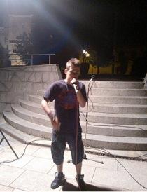 Joven rapero unido al Ágora: Diego Peña.