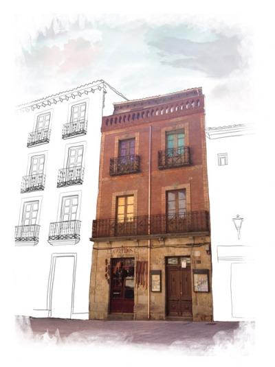Edificio en el que se sitúa La Malhablada, en la calle Meléndez de Salamanca. Foto: La Malhablada.