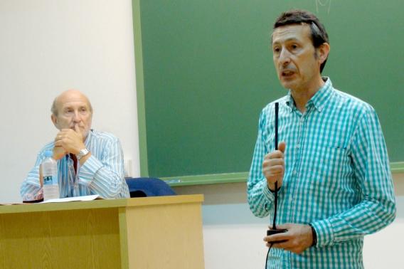Javier Angulo (director de la SEMINCI) y Javier Castán (director de la Cátedra de Cine de la UVa). Foto: L. Fraile.