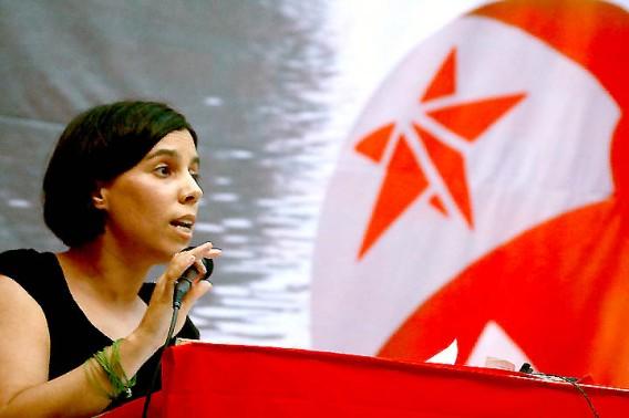 Esther Vivas, que participó en la I edición de la Universidad de verano. Foto: Izquierda Anticapitalista.