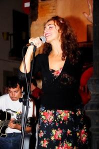 Rosario Granell, cantante de Swing Combo. © Fotografía: Abel Morán.