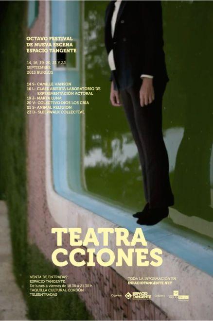 Cartel de Teatracciones.