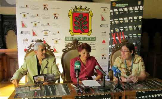 Luis Miguel Alonso y Victorina Alonso, durante la presentación del festival. Fotografía de Astorga RedAcción.