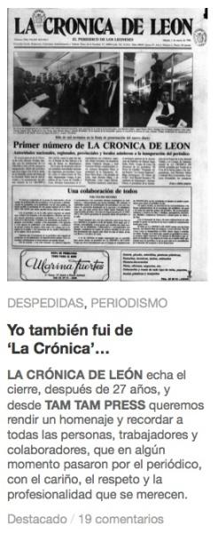 La Cronica cierre