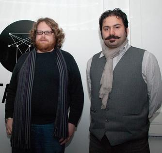 Maximilian Le Cain y Rouzbeh Rashidi. Fotografía: corkfilmfestival.