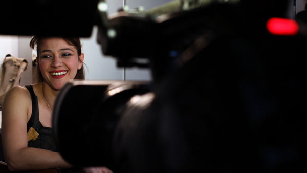 Cristina Calleja durante el rodaje de 'Corsarios'.