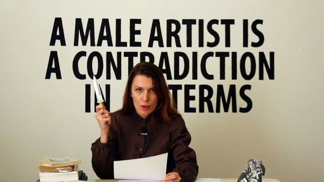 Chiara Fumai. Chiara Fumai Reads Valerie Solanas (2012-13). Cortesía de la artista.