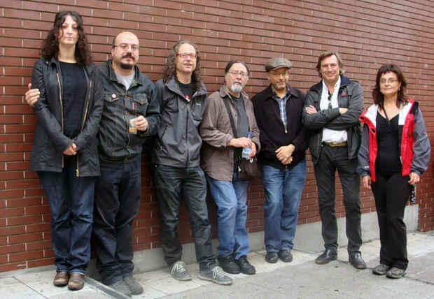 Integrantes del colectivo Arañados Signos. Foto: L. F.