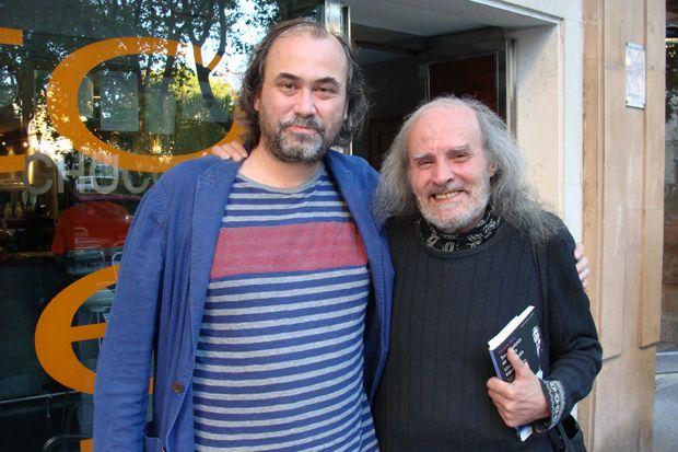 Arturo Dueñas junto a Juan Ignacio Miralles `Licas´, que formó parte de Teatro Corsario. Foto: L. Fraile.