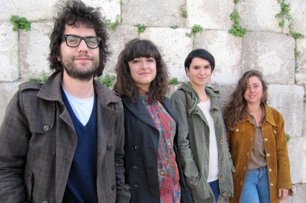 Cuatro de los integrantes del proyecto Mapping Art, que se desarrollará en noviembre en el LAVA. Foto: María Nieto.