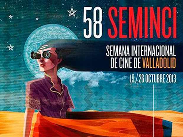 Cartel de la 58 edición de la Semana Internacional de Cine de Valladolid (SEMINCI).