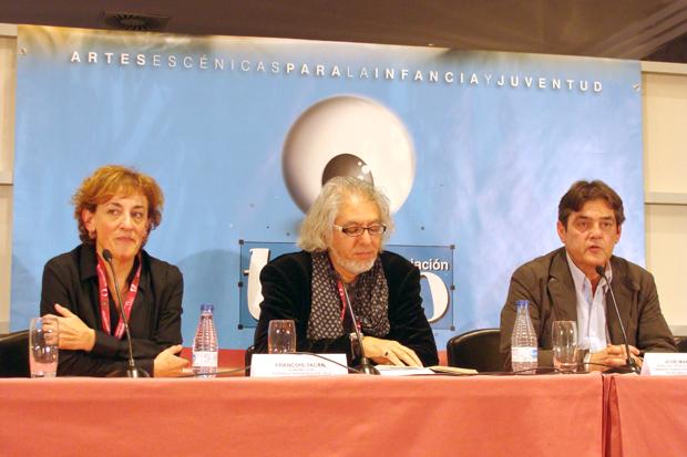 Ana Isabel Gallego, Jacinto Gómez y José María Viteri durante la clausura del encuentro. Foto: L. Fraile.