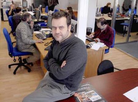 David Rubio, director de La Nueva Crónica. © Fotografía: Mauricio Peña.