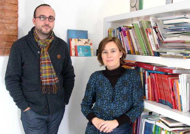 Ángel Domingo y Sandra López, integrantes de la agencia Pencil Ilustradores. Foto: L. Fraile.
