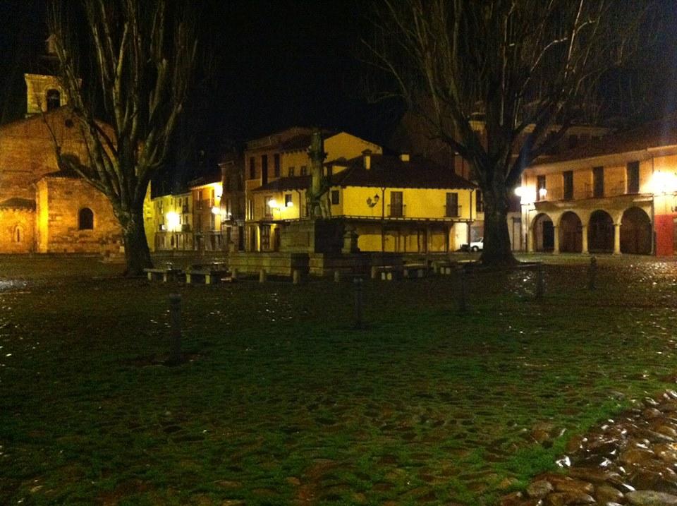 La Plaza del Grano, en León. © Fotografía de Alejandro Sáenz de Miera, realizada hace solo unos días.