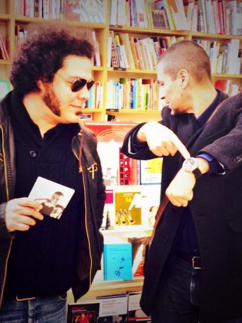 El editor Fabio de la Flor y el cineasta Rodrigo Cortés.  © Fotografía: Damià Gallardo.