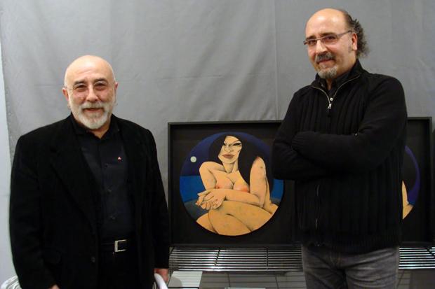 Manuel Sierra y Pedro Piedras durante la inauguración. Foto: L. Fraile.