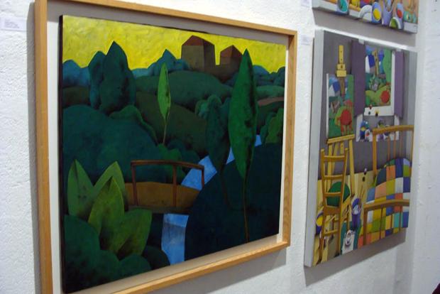 Uno de los cuadros de la exposición. Foto: Laura Fraile.
