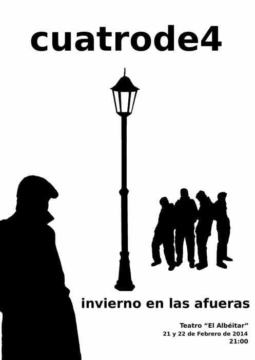 """Cartel de """"Invierno en las afueras""""."""
