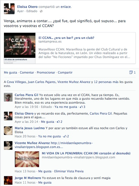 Captura del FB.