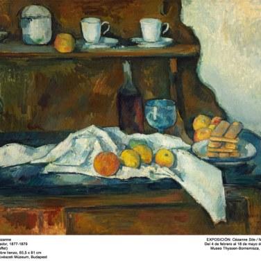 "El aparador, 1877-1879. ""Cézanne site / non-site"". Museo Thyssen-Bornemisza."