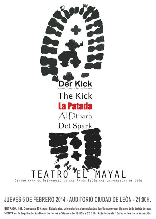 """Cartel de la obra """"La Patada"""", por Teatro El Mayal."""