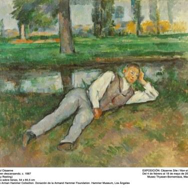 """Joven descansando, 1887. """"Cézanne site / non-site"""". Museo Thyssen-Bornemisza."""