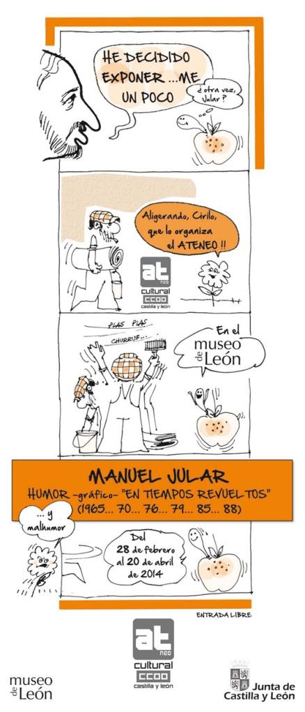 Cartel de la exposición de Jular.