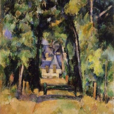 "Paseo de Chantilly, 1888. ""Cézanne site / non-site"". Museo Thyssen-Bornemisza."