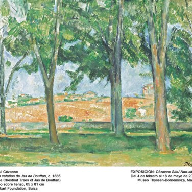 "Los castaños de Jas de Bouffan, 1885. ""Cézanne site / non-site"". Museo Thyssen-Bornemisza."