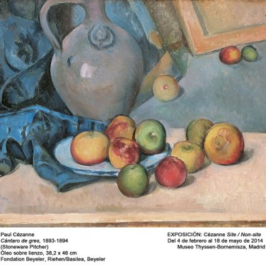 "Cántaro de fres, 1893-1894. ""Cézanne site / non-site"". Museo Thyssen-Bornemisza."