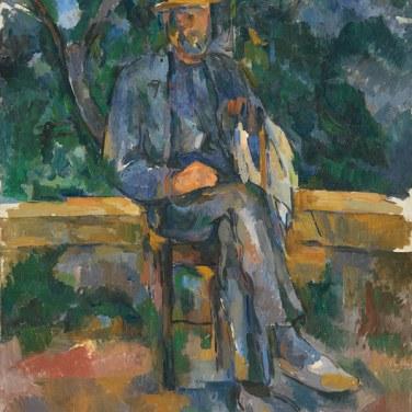 """Retrato de un campesino, 1905-1906. """"Cézanne site / non-site"""". Museo Thyssen-Bornemisza."""