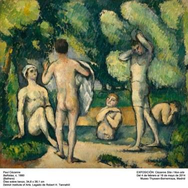 "Bañistas, 1880. ""Cézanne site / non-site"". Museo Thyssen-Bornemisza."