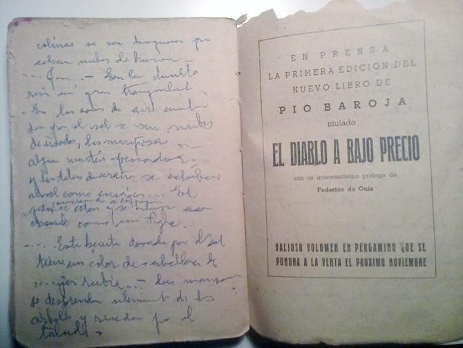 Uno de los libros de Pío Baroja.