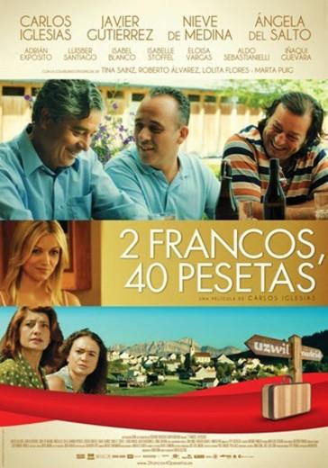 "Cartel ""2 francos, 40 pesetas"""