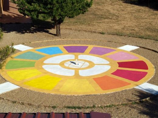 Mandala en el ashram de la Escuela Mahashakti de yoga integral (Navarra).