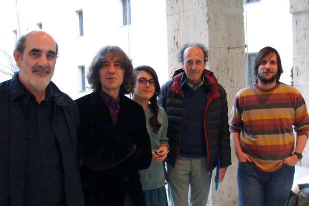Manuel Espina, José Mª Álvarez, Ana Elúa, Fernando Colina y Sergio González. Foto: L. Fraile.
