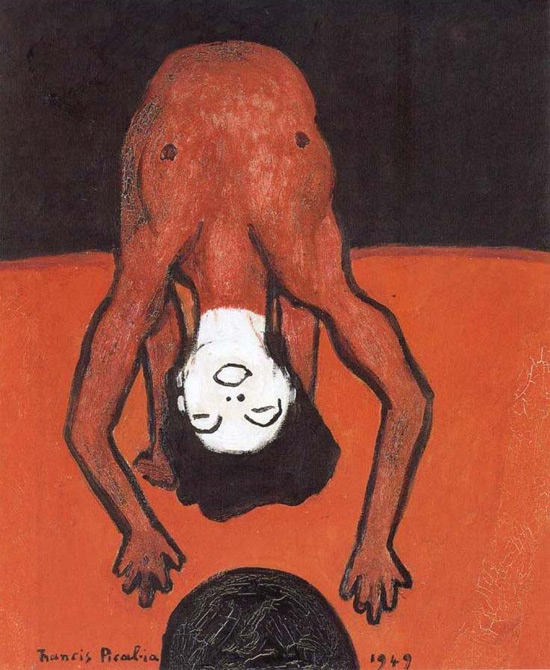 Acrobatics (1949). Una pintura de Francis Picabia.