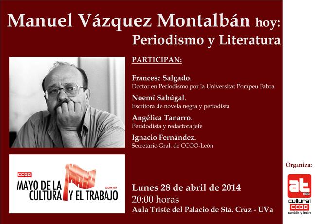 El cartel del acto en Valladolid.