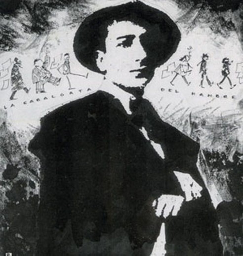 Mario Arnold en una ilustración de Ernesto Rodera.