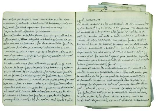 Páginas del diario de Ricardo Piglia.