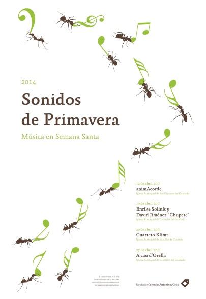 """Cartel """"Sonidos de Primavera"""""""