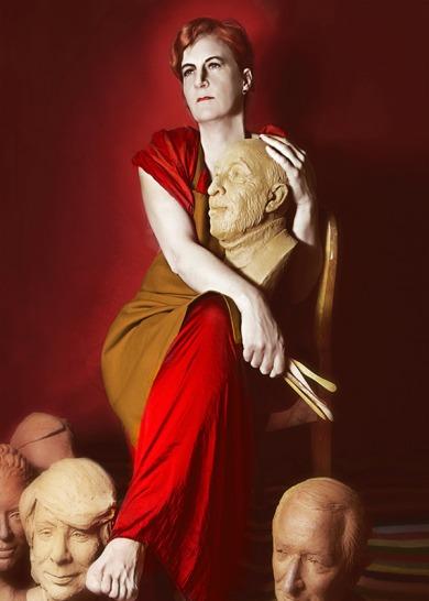 """Charo Acera en una de las imágenes de la exposición """"Invocando a Lempicka"""". © Fotografía: Julia D. Velázquez."""