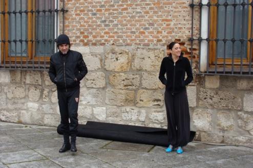 Marcos Vargas & Chloé Brûlé, minutos antes de suspender la función por la lluvia. © Foto: L. F.