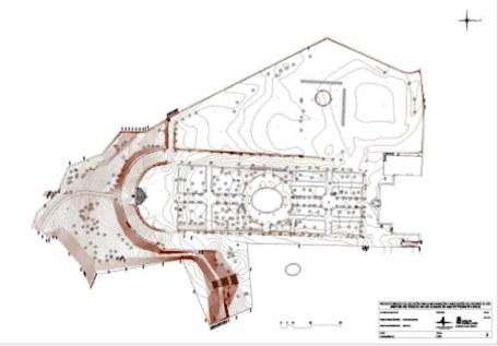 Plano topográfico del proyecto de restauración.