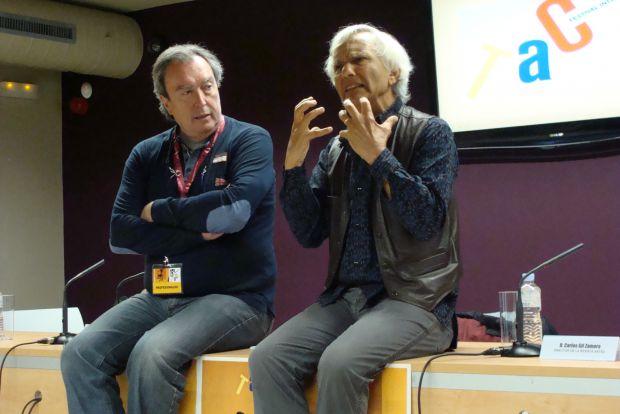 Carlos Gil Zamora y Eugenio Barba durante su intervención en el Foro. Foto: L. Fraile.