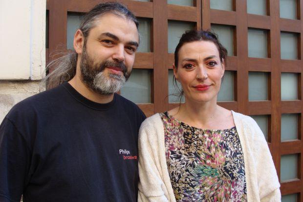 Félix Fradejas y Marta Ruiz de Viñaspre, integrantes de la compañía Ghetto 13-26. © Fotografía: L. Fraile.